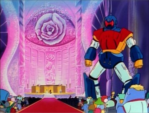 No anime wedding is complete without a giant mecha in attendance.
